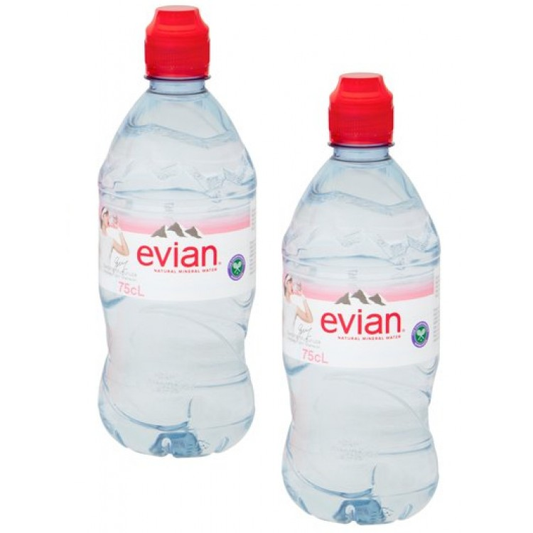 Evian Natural Mineral Water 750ml - 2 For £1