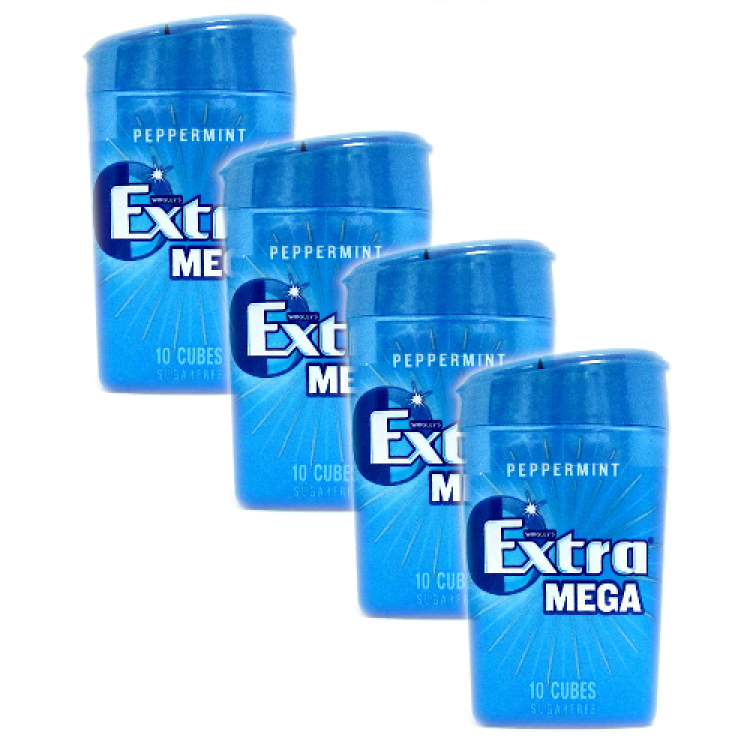Extra Mega Peppermint Chewing Gum 22g - 4 For £1