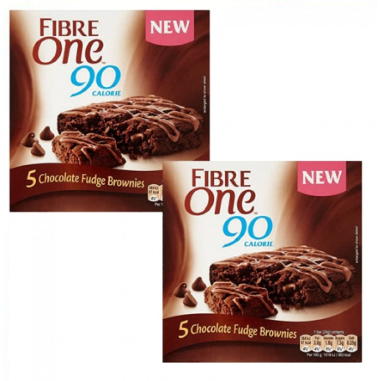 Fibre One 90 Calorie Chocolate Brownie 5pack - 2 for £1