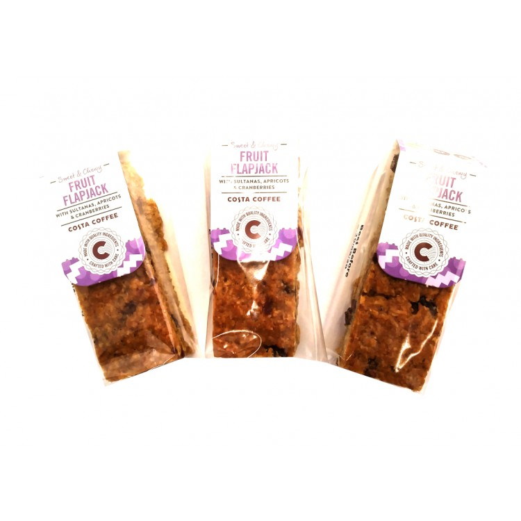 Costa Coffee Fruit Flapjack 58g - 3 For £1