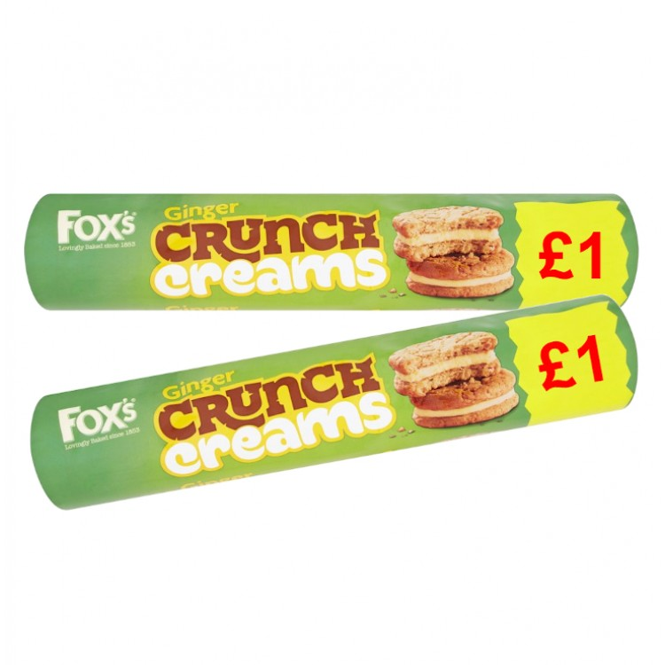 Foxs Ginger Crunch Creams 230g - 2 For £1