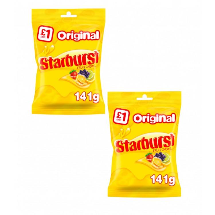 Starburst Fruit Chews Original 141g Bag - 2 For £1.50