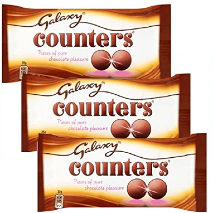 Galaxy Chocolate Counters 35g - 3 For £1