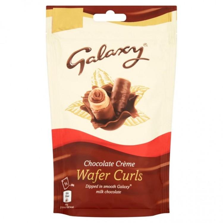 Galaxy Chocolate Creme Wafer Curls 90g