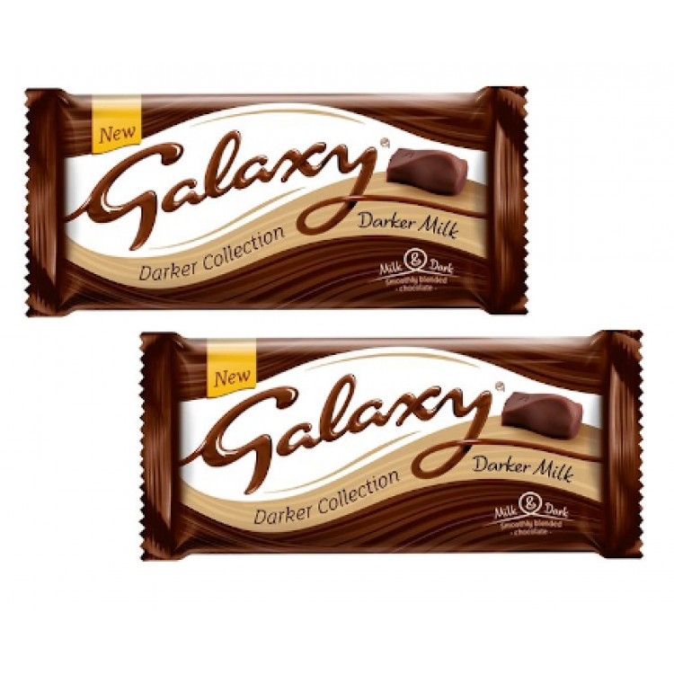 Galaxy Darker Collection Chocolate (Share Bar) 110g - 2 For £1