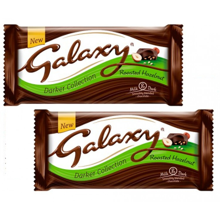 Galaxy Darker Collection Roasted Hazelnut 105g-2 For £1