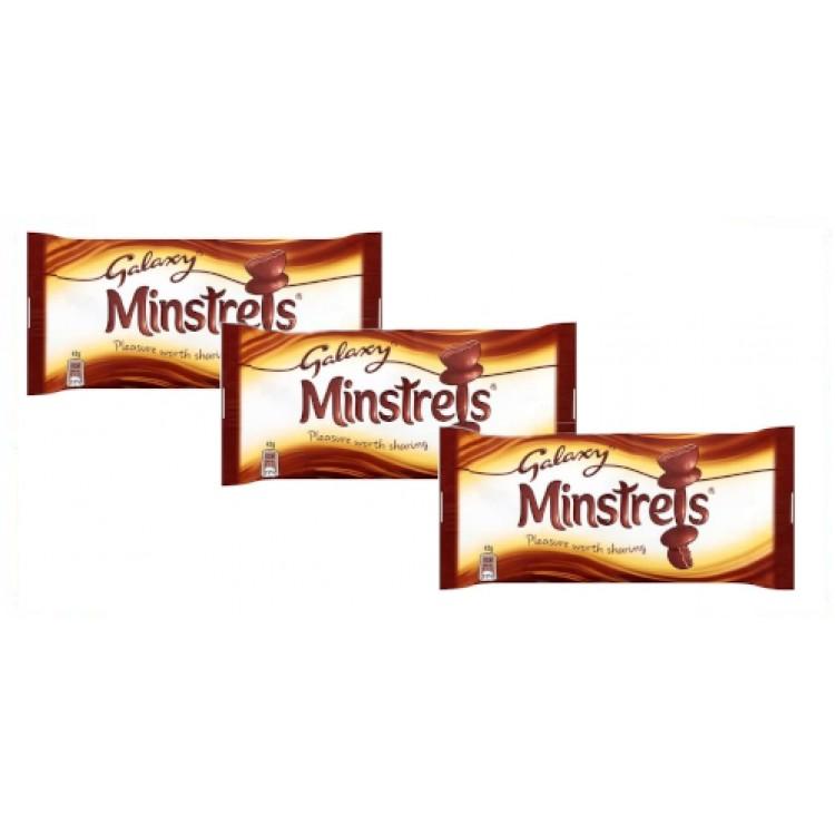 Galaxy Chocolate Minstrels 42g - 3 For £1