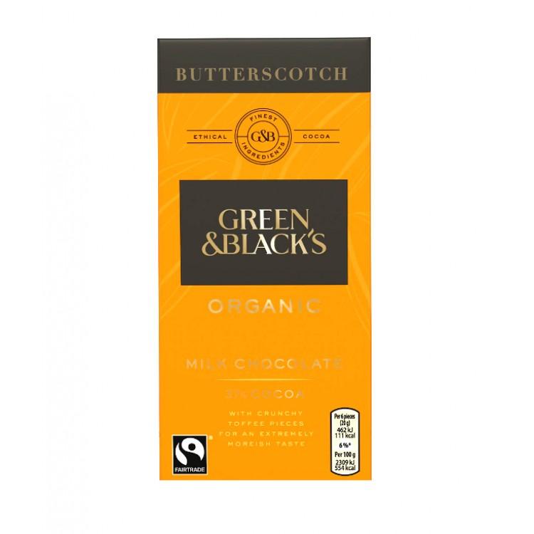 Green & Blacks Organic Butterscotch Milk Chocolate 100g