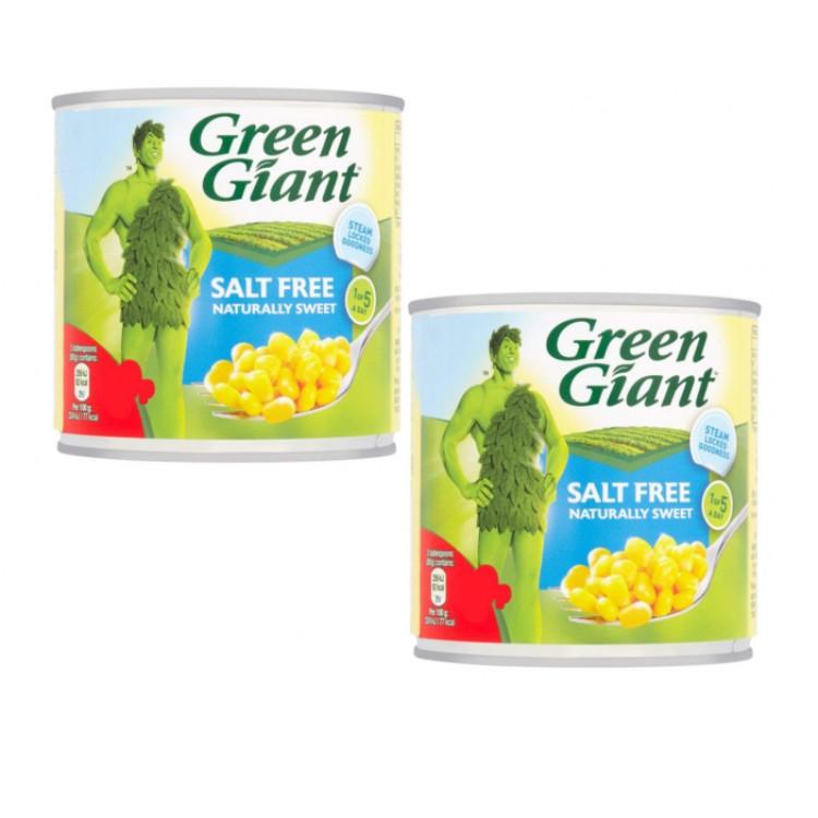 Green Giant Salt Free Sweetcorn 340g 2 for £1