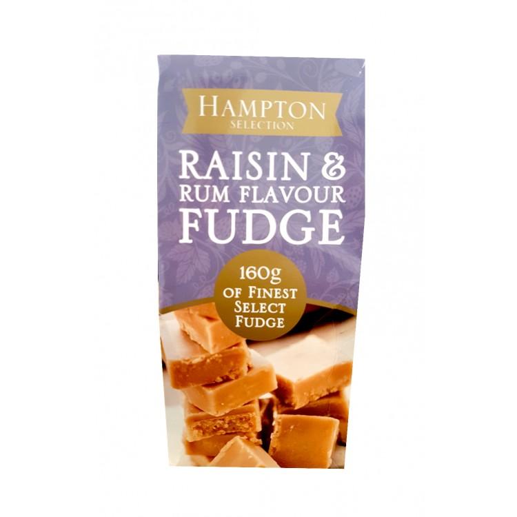 Hampton Rum & Raisin Fudge 160g