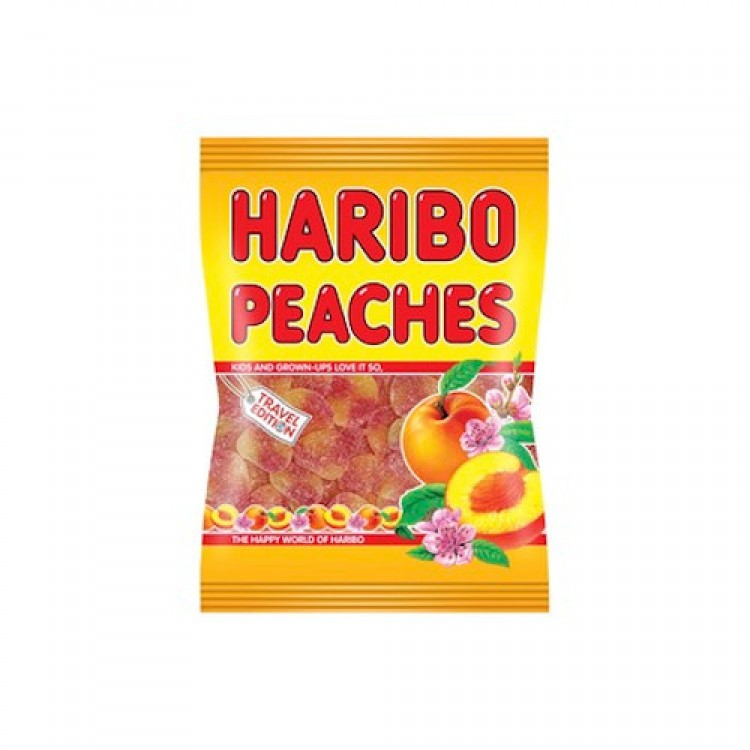 Haribo Peaches Big Bag Travel Edition 500g
