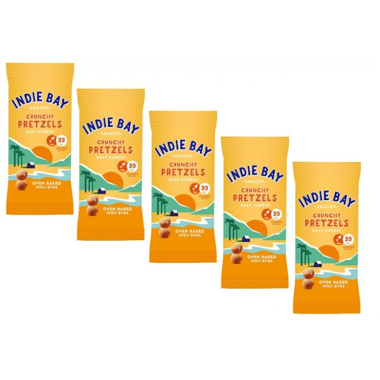 Indie Bay Cheesy Pretzel Bites 26g - 5 For £1