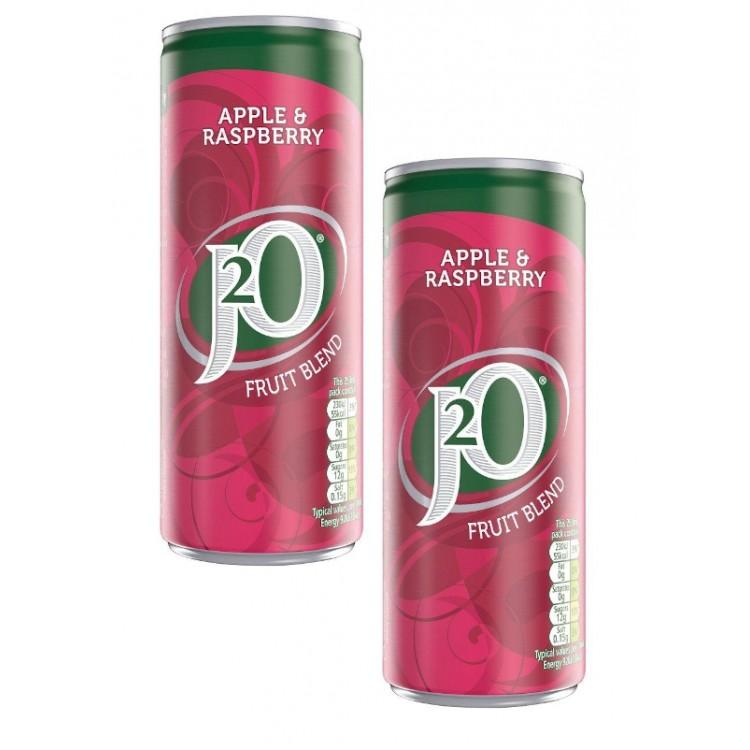 J2O Fruit Blend Apple & Raspberry 250ml - 2 For £1