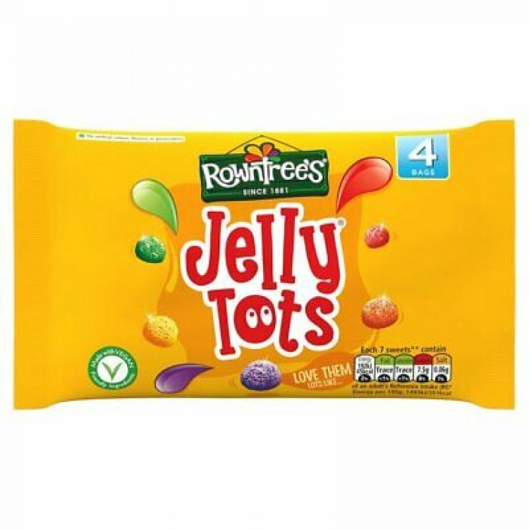 Rowntrees Jelly Tots 4x28g