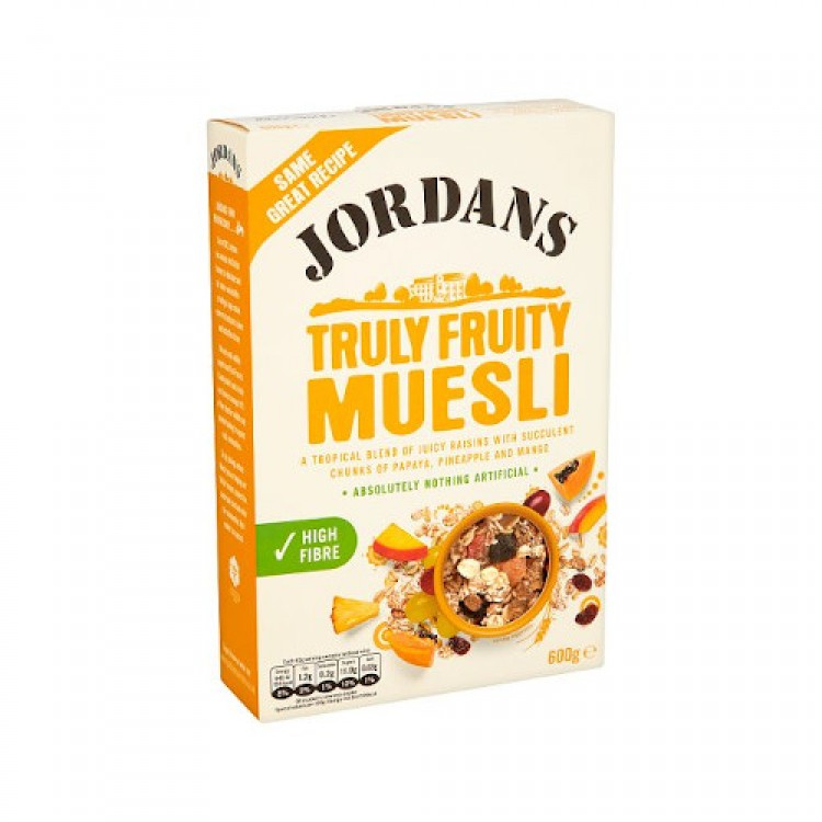 Jordans Truly Fruity Muesli  Cereal 600g