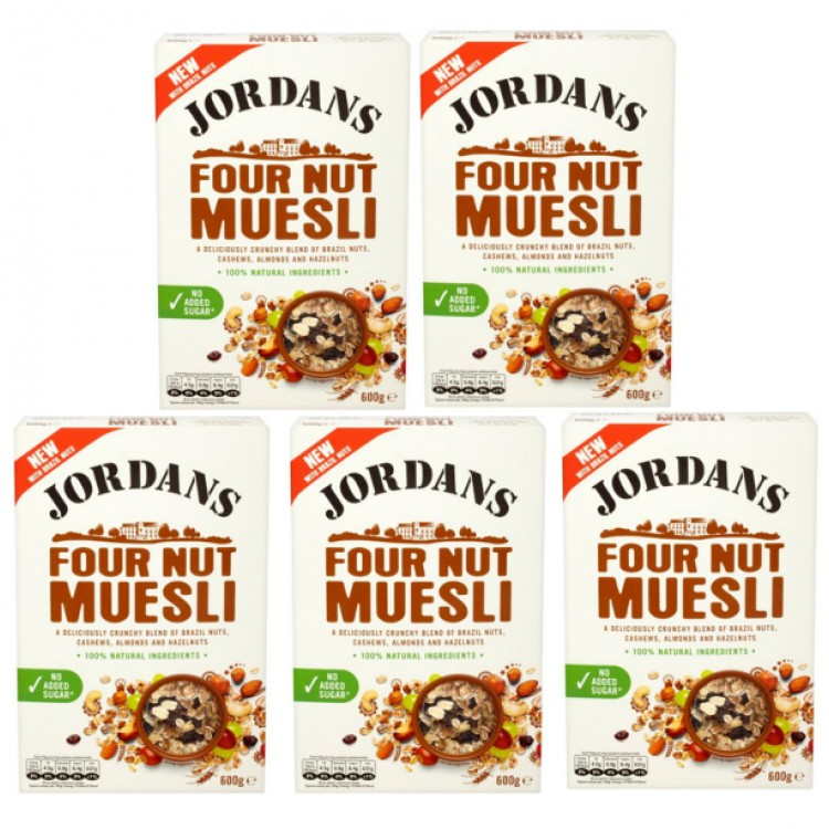Jordans Four Nut Muesli Cereal CASE PRICE 5 x 600g