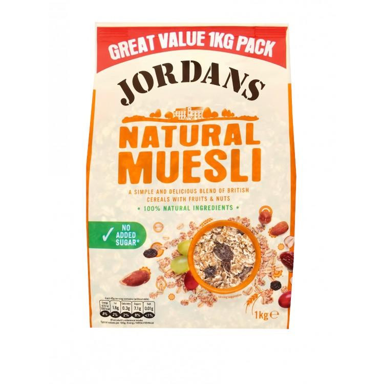 Jordans Natural Muesli 1kg Bag
