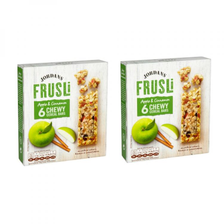 Jordans Frusli Apple Cinnamon Chewy Cereal Bars Multipack 180g - 2 For £1.50