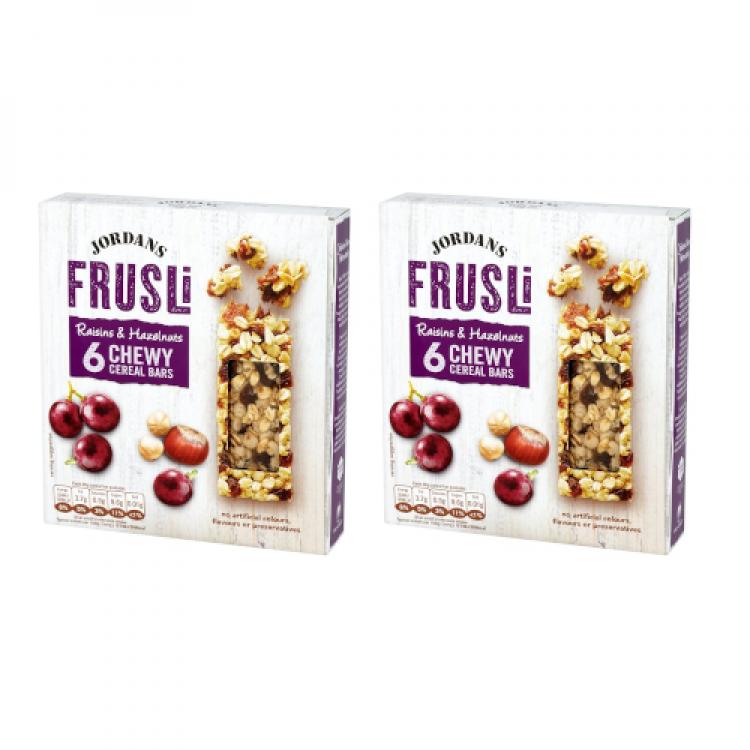 Jordans Frusli Hazelnut Chewy Cereal Bars Multipack 180g - 2 For £1.50