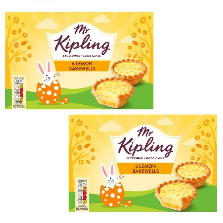Mr Kipling 6 Lemon Bakewells - 2 For £1