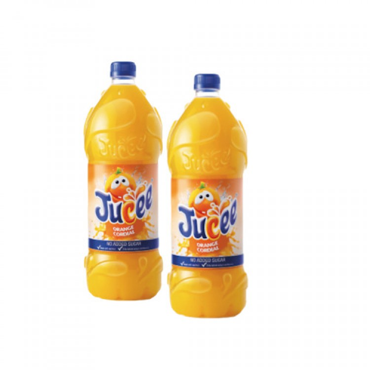 Jucee Orange Cordial 1.5L - 2 for £1.50