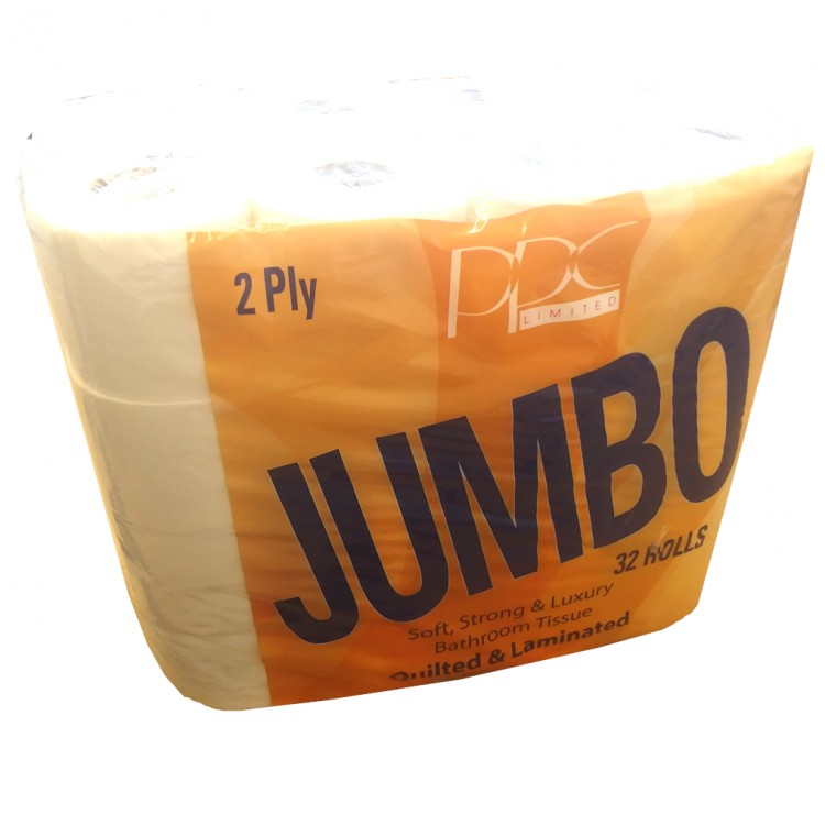 Jumbo 32 Roll Pack Toilet Roll 2 Ply Essentials