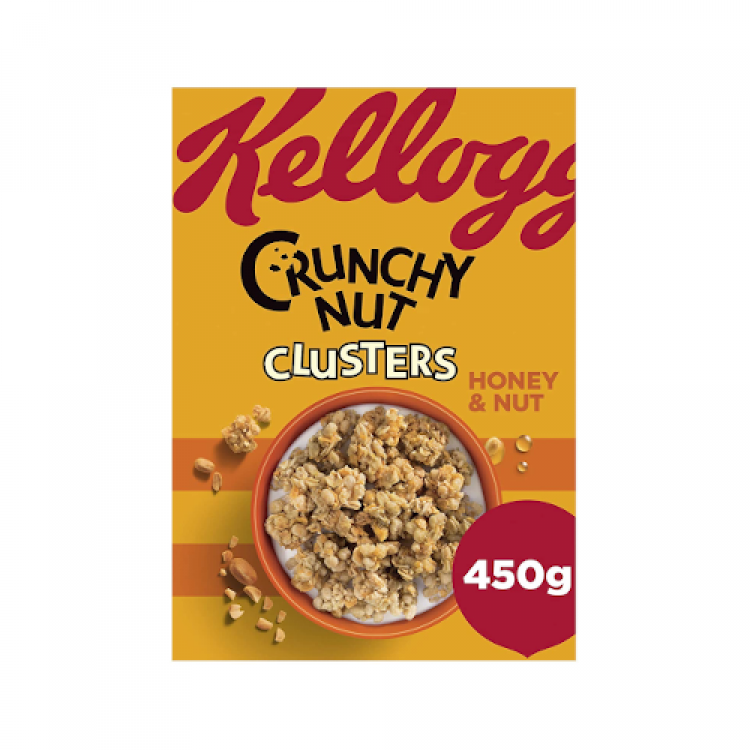 Kelloggs Crunchy Nut Clusters Cereal 450g