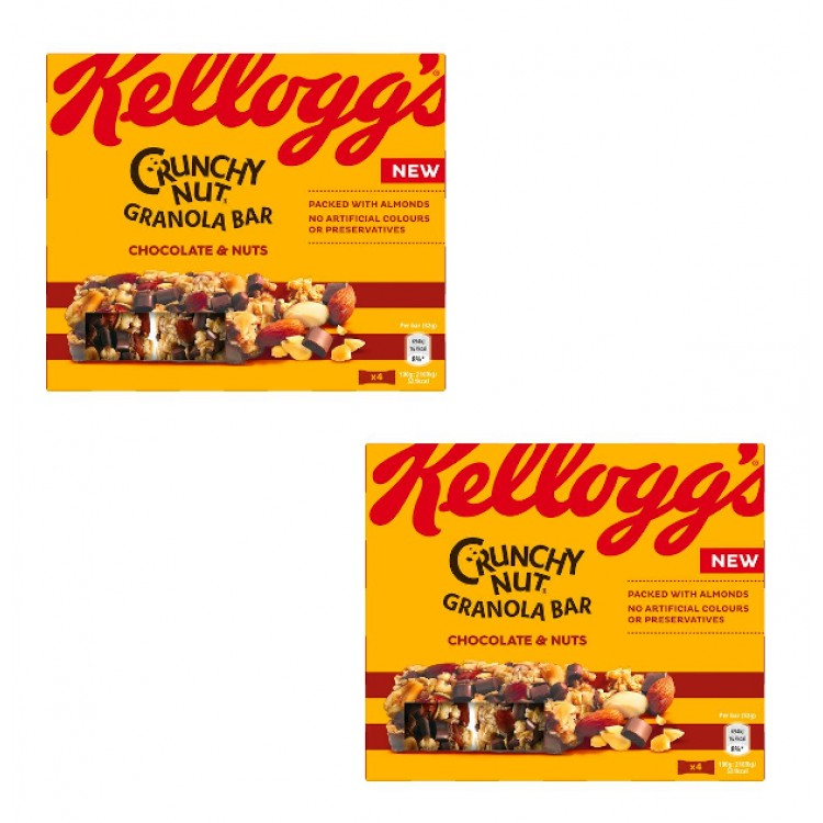 Kelloggs Crunchy Nut Granola Bar Cranberries & Nuts x 4 - 2 for £1.50