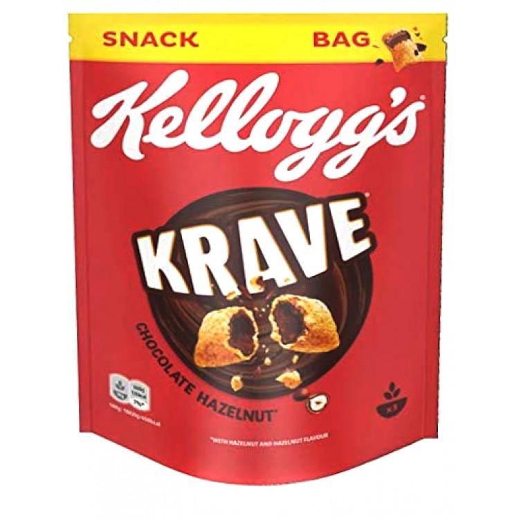 Kelloggs Krave Chocolate Hazelnut Cereal 90g Bag