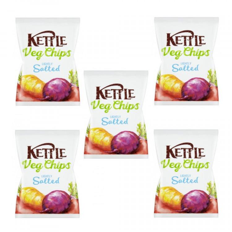 Kettle Veg Chips Lightly Salted 40g - 5 For £1