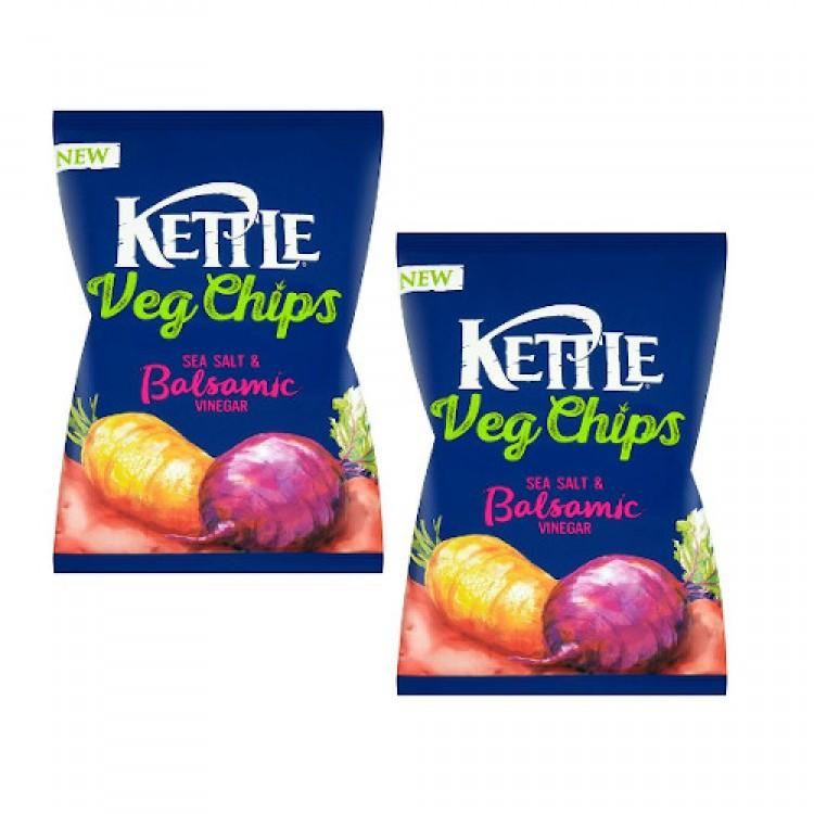 Kettle Veg Chips Sea Salt & Balsamic Vinegar 125g - 2 For £1.50
