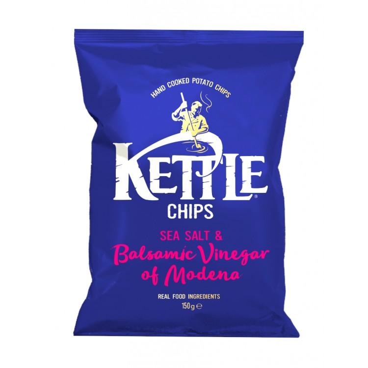 Kettle Sea Salt & Balsamic Vinegar Crisps 150g