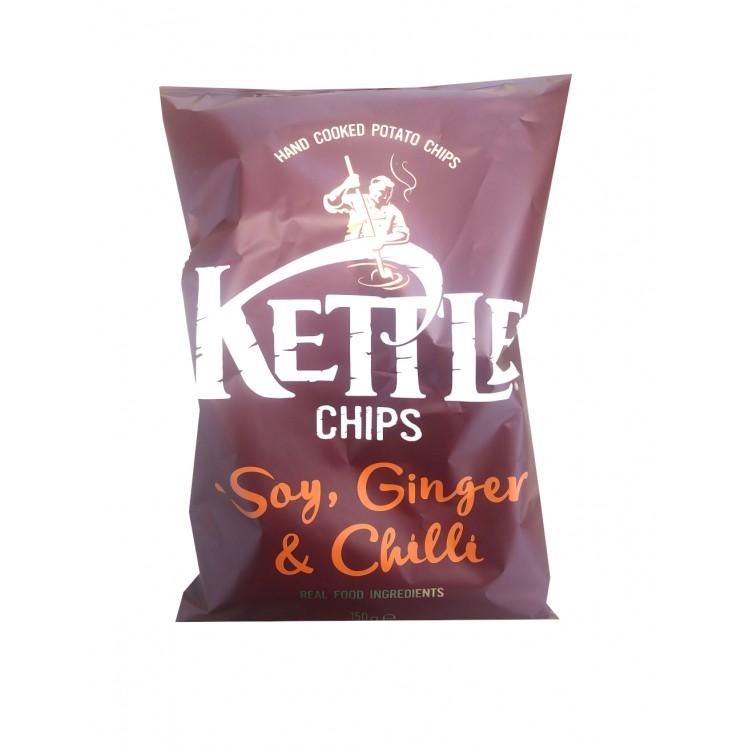 Kettle Chips Soy Ginger & Chilli 150g Bag