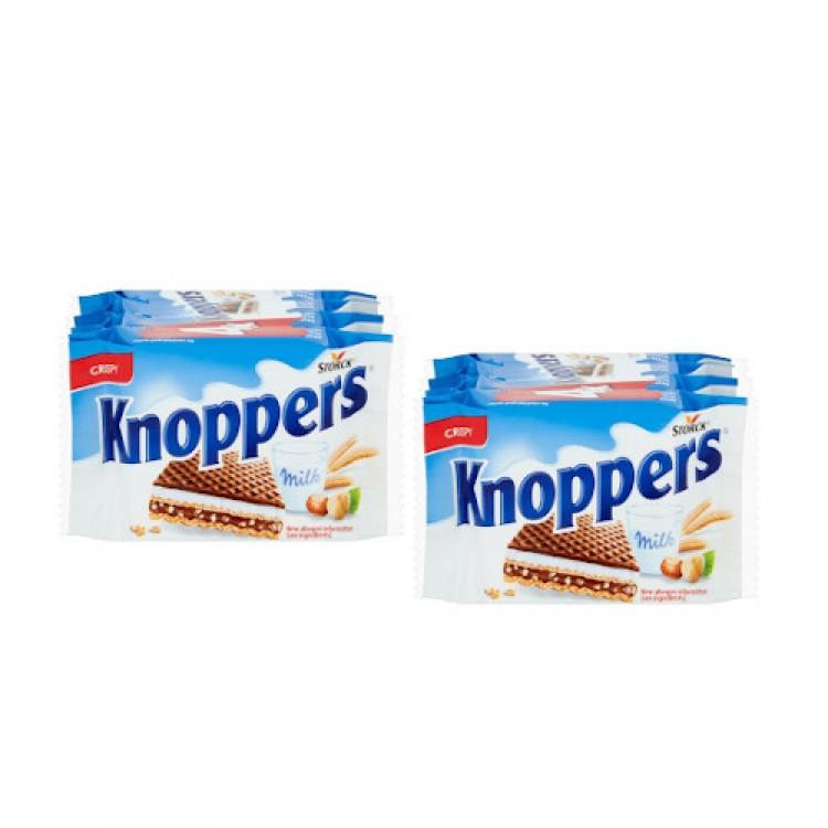 Knoppers Crispy Milk Chocolate Hazelnut Wafer 100g 4 x 2 for £1