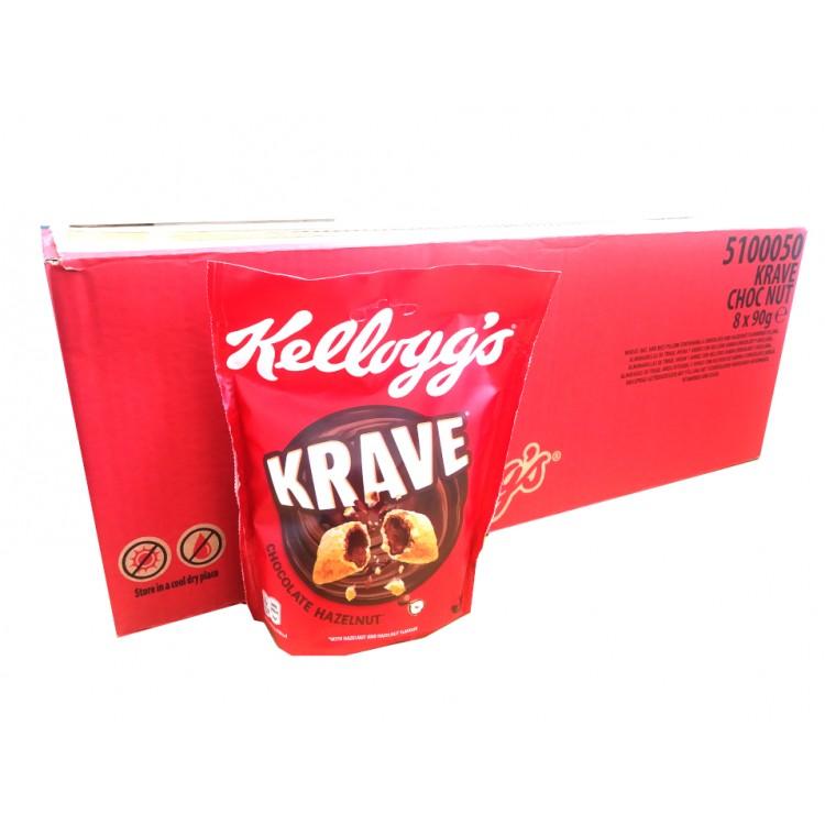 Kelloggs Krave Cereal 8 x 90g CASE PRICE