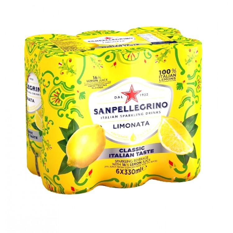 San pellegrino Limonata Soft Drink 6pk - 330ml Cans