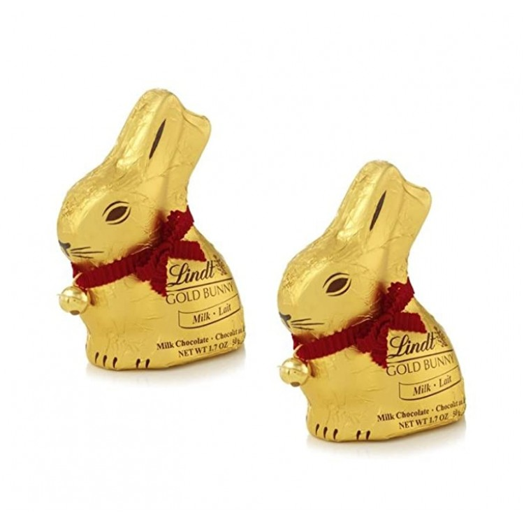 Lindt Gold Bunny Milk Chocolate 50g - 2 For £1