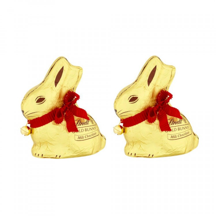 Lindt Gold Bunny 100g - 2 For £1.50