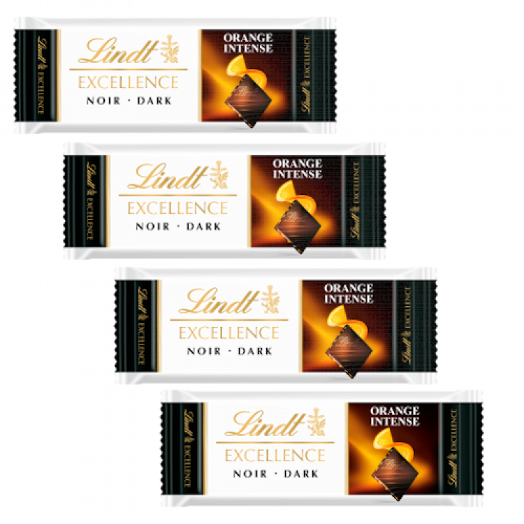 Lindt Excellence Orange Intense Chocolate Bar (single) 35g 4 For £1