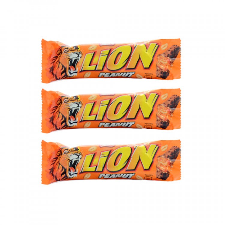 Nestle Lion Peanut Bar 41g - 3 for £1