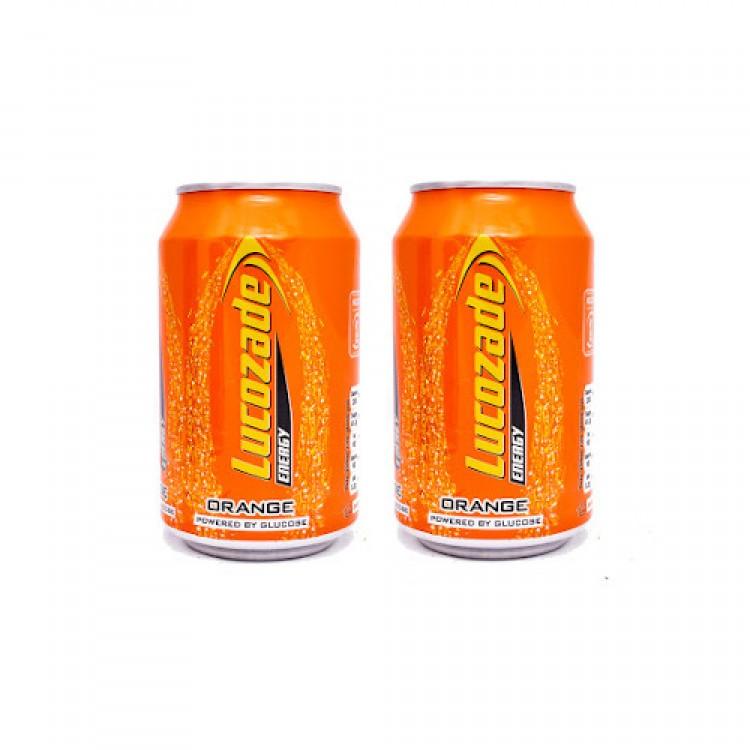 Lucozade Energy Orange Can 330ml - 2 For £1