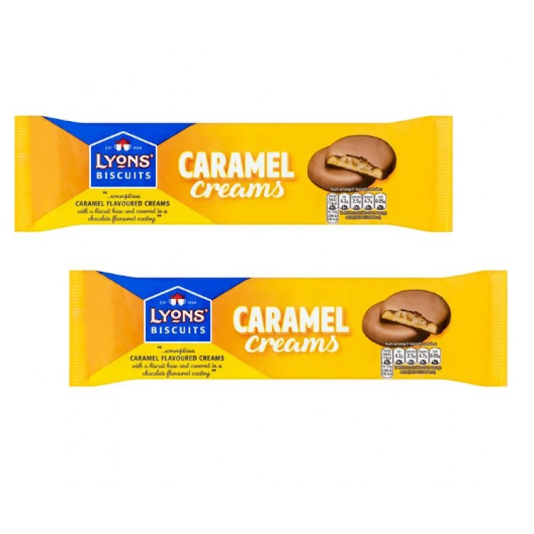 Lyons Caramel Creams Chocolate Covered Biscuits - 2 For £1
