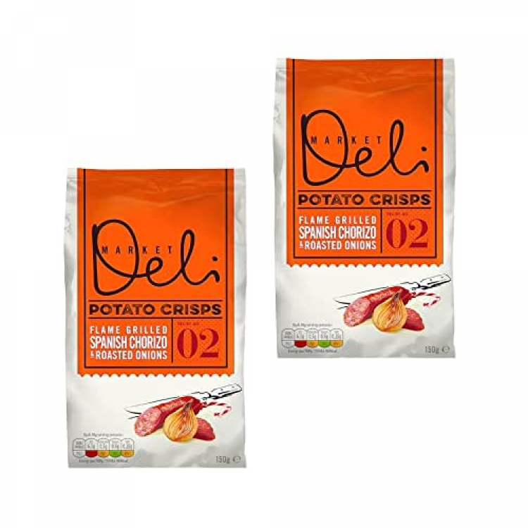 Market Deli Spanish Chorizo Crisps (Share bag) 150g 2 For £1.50