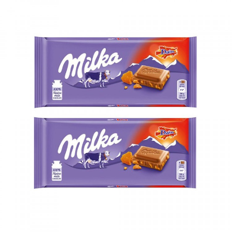 Milka with Daim Bar 100g 2 For £1.49
