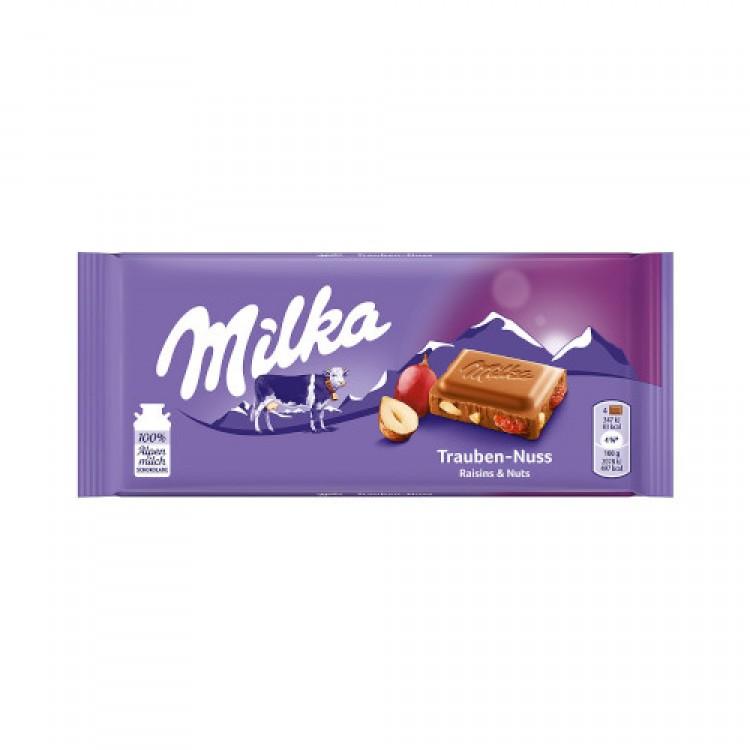 Milka Raisin & Nut Bar 100g
