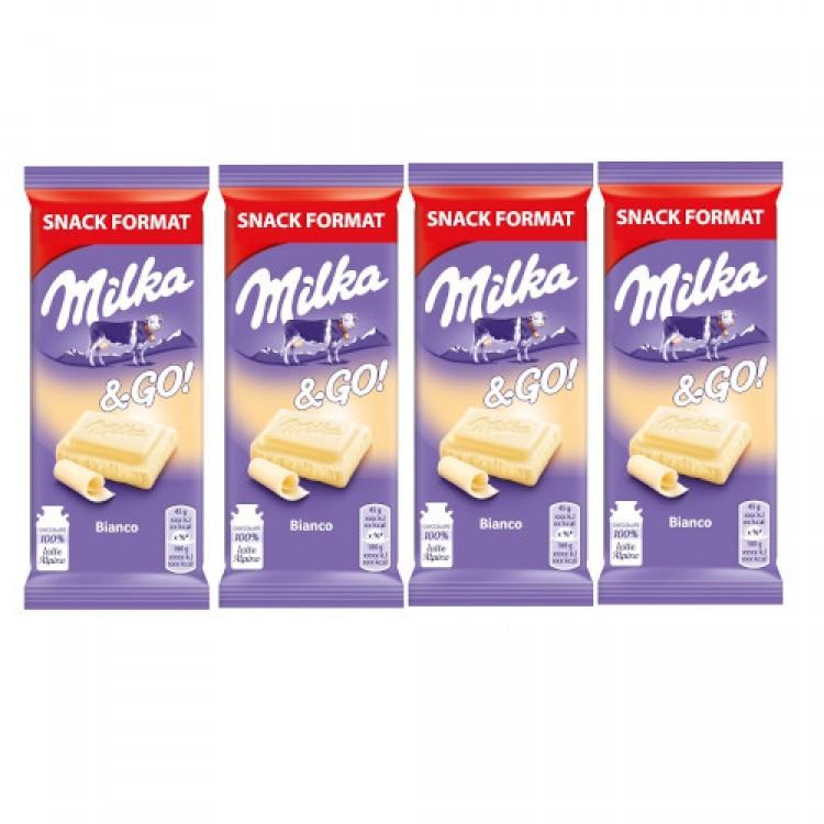 Milka & Go Bianco (white) 45g - 4 For £1