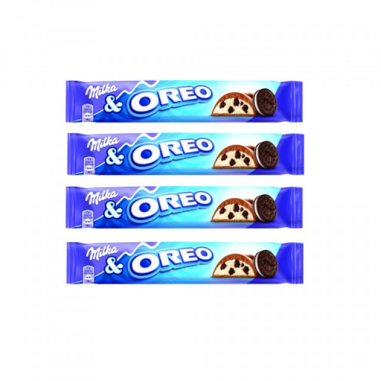 Milka & Oreo Chocolate Bar 37g - 4 For £1
