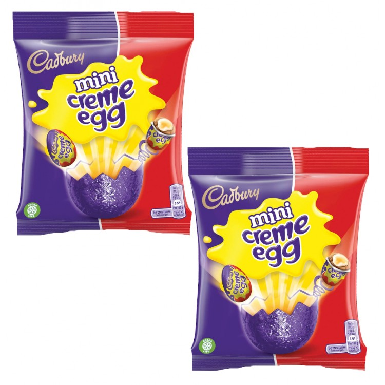 Cadburys Mini Creme Eggs 2 x 89g Bags