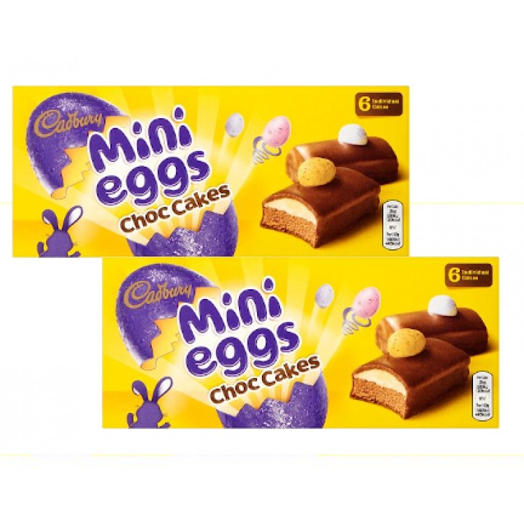 Cadburys Mini Eggs Chocolate Cakes 6 - 2 For £1.50