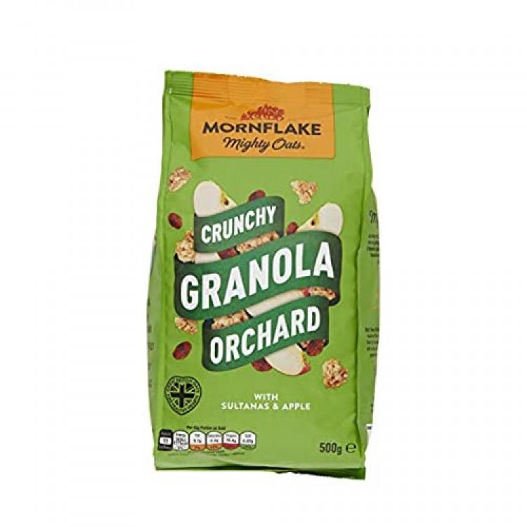 Mornflake Crunchy Granola Orchard Sultanas Apple Cereal 500g